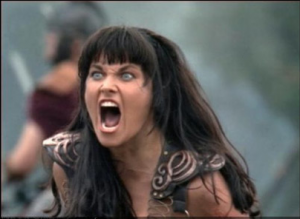 Xena is Angry