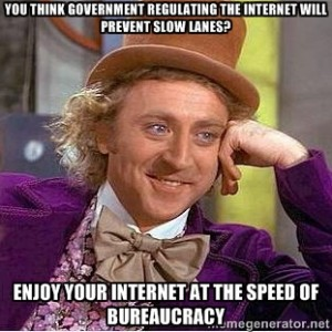 Internet at the speed of bureaucracy