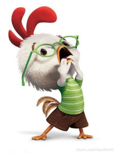 Settle it down there, Chicken Little!